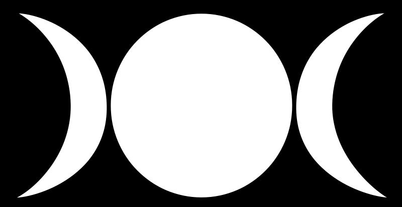 Free Clipart: Wiccan triple goddess symbol   Symbol