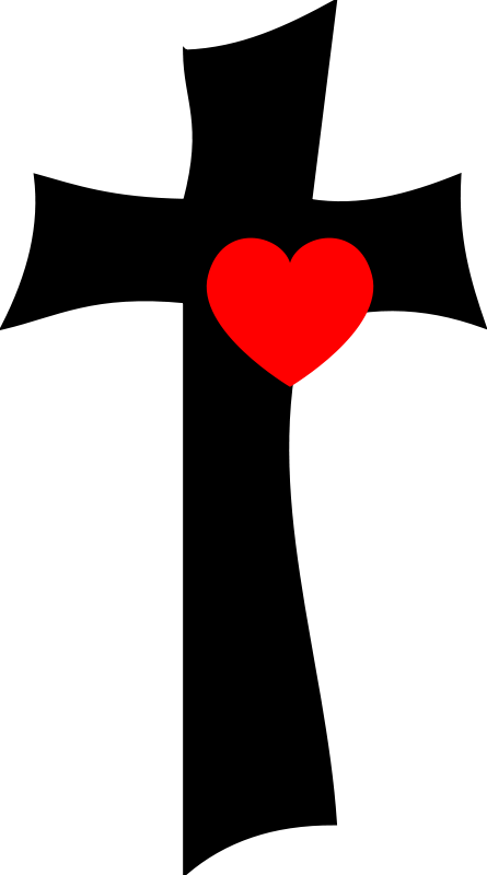 free cross and heart clipart - photo #9
