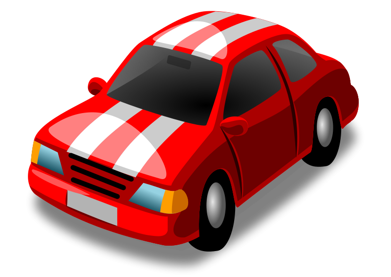 Red Racing Car Clipart Free Little Red Racing Car