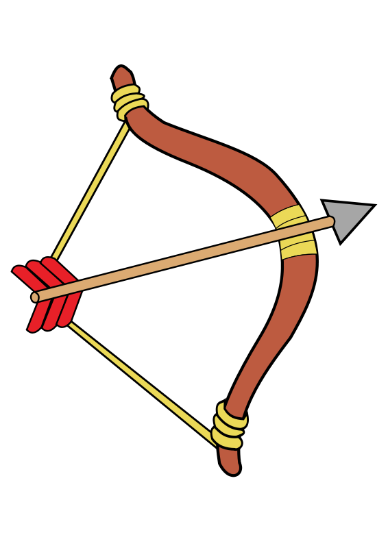 Free Clipart: Bow and arrow