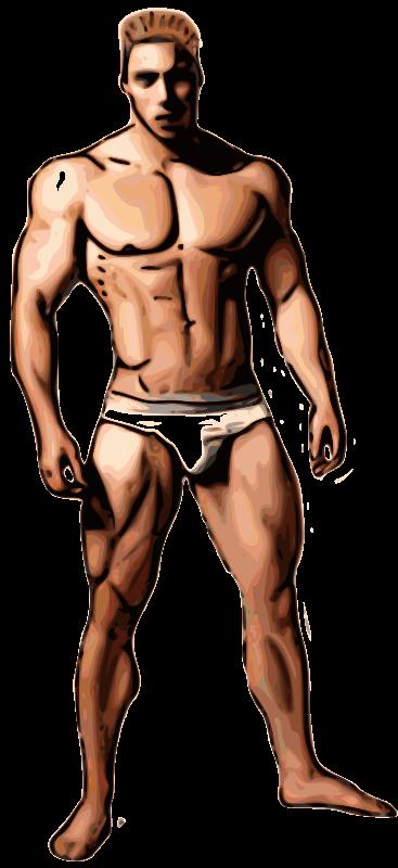 Hunk men strip down porn