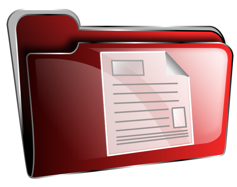 View Document Icon Folder icon red document
