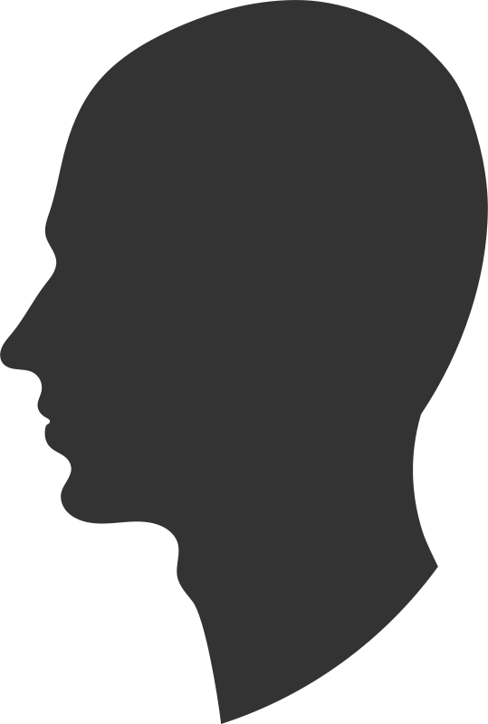 Free Clipart: Head profile   Objects   PrinterKiller   539 x 800 png 18kB