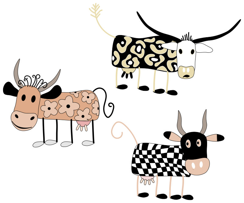 Milk Cow Clipart Free Clipart Cartoon Cows