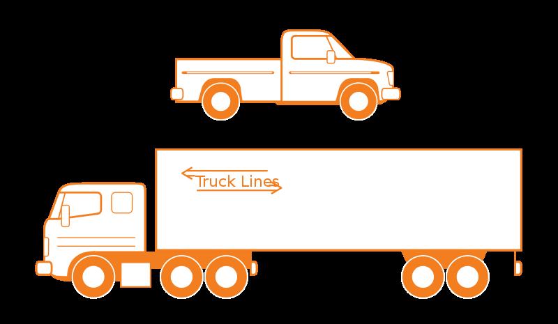 Semi Truck Outline Semi And Pickup Trucks